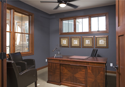 Office Sherwin Williams Peppercorn Evan Marie Interiors
